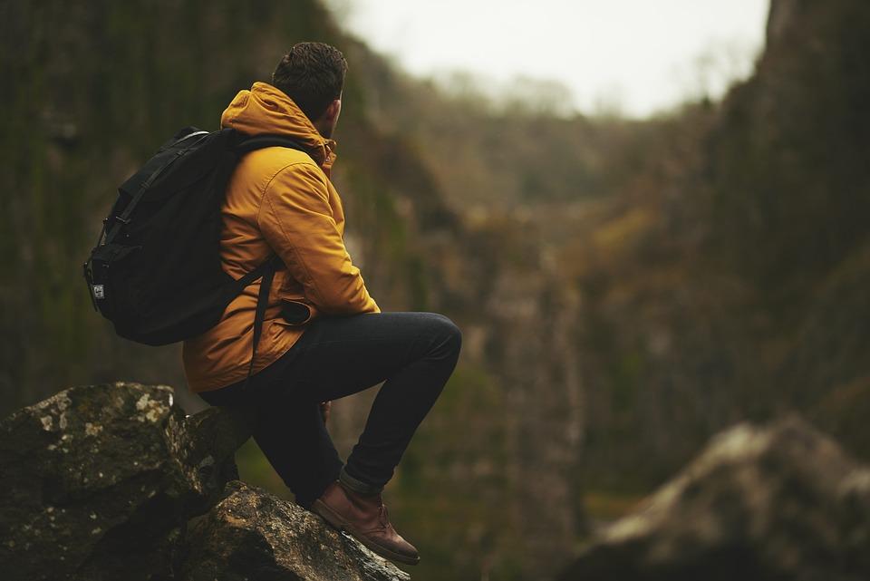 Adventure, Man, Mountain, Outdoors, Rocks, Sitting