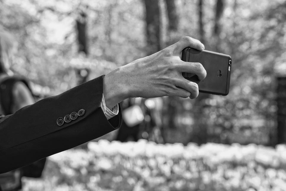 Man, Arm, Hand, Finger, Smartphone, Selfie