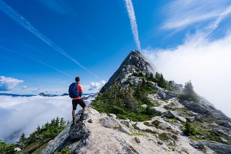 Man, Mountain, Snow, Camping, Tent, Hiking, Campfire