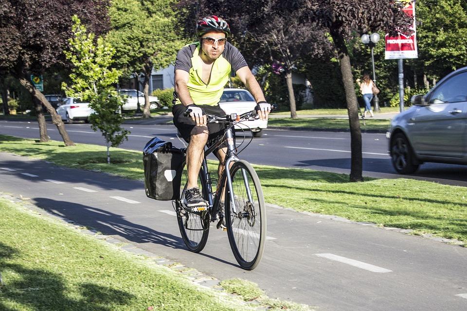 Man, Bicycle, Wheels