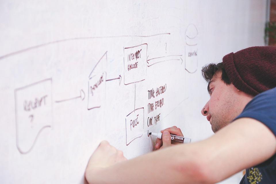 free photo man whiteboard explain presentation display write max pixel