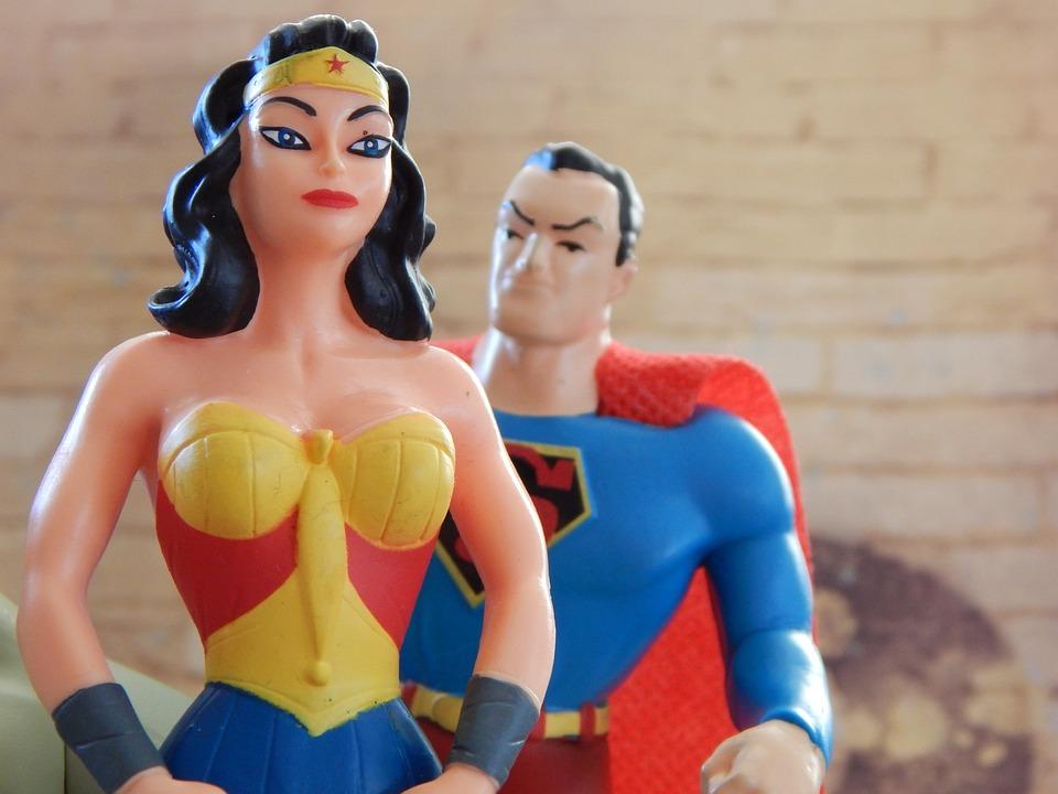 Wonder Woman, Superman, Superhero, Strong, Woman, Man