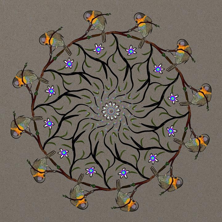 Bird, Mandala, Spirit, Meditation, Compensation