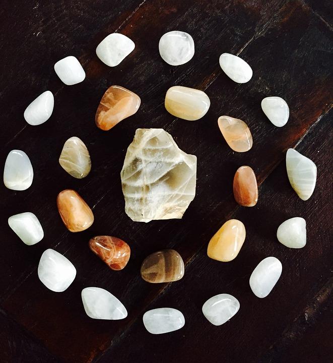 Moonstone, Gemstone, Mandala, Crystal-healing, Cycles