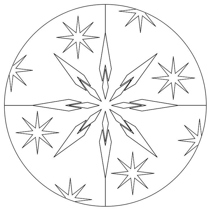 Christmas, Mandala, Star, Advent, Decoration