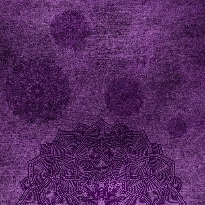 Background, Purple, Mandala, Lilac, Grunge, Vintage