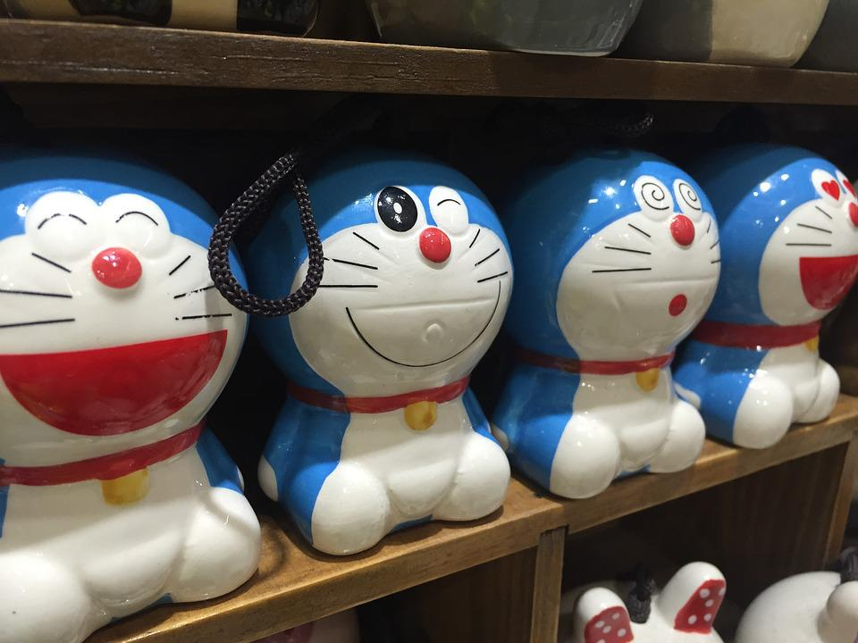 Doraemon, Manga, Phone Charms, Toys, Shelf, Wink