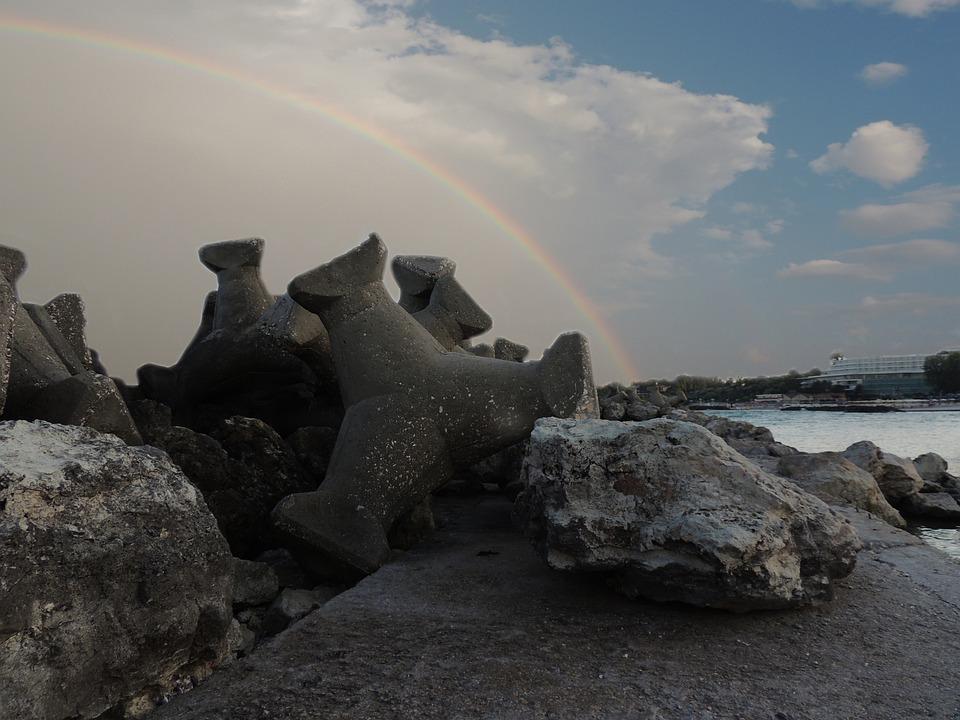 Rainbow, Stabilopozi, Great, Seaside, Mangalia, Olympus