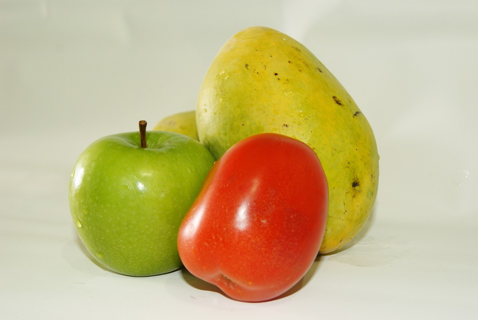 Fruit, Vegetable, Vegetables, Tomato, Apple, Mango