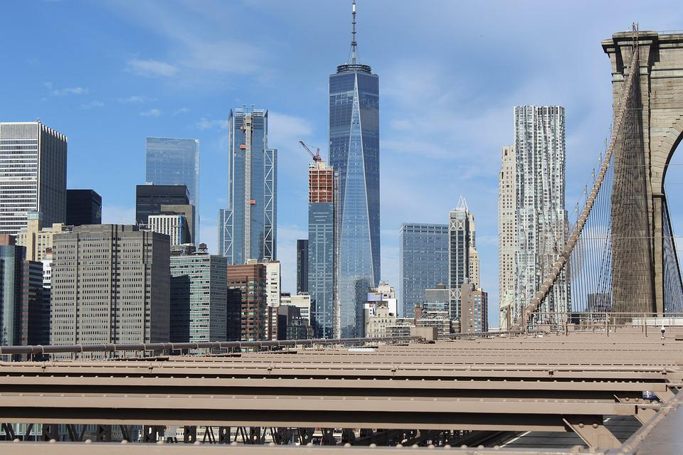 New York, Brooklyn Bridge, Manhattan, Tower