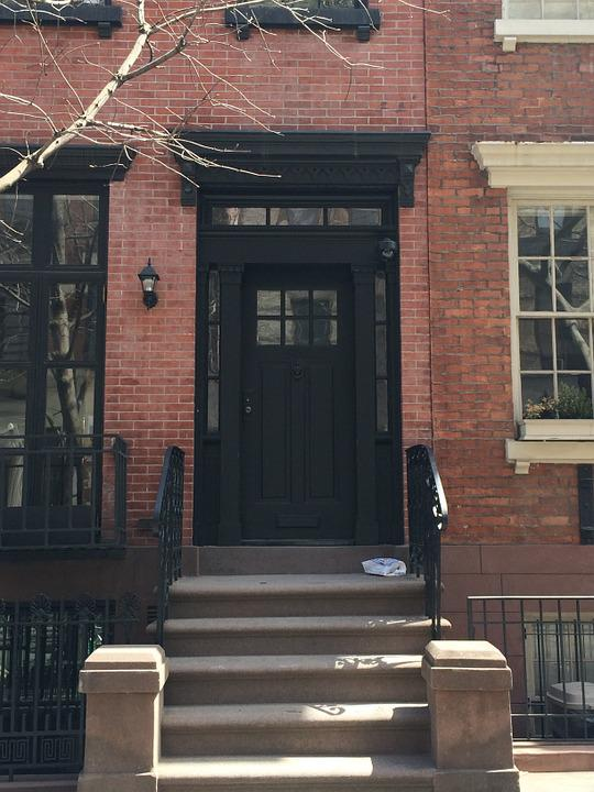 Manhattan, Nyc, Urban, City, Usa, Door, Street, House