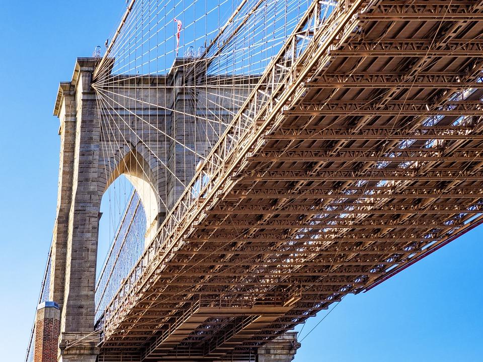 Usa, America, Bridge, Brooklyn Bridge, Nyc, Manhattan