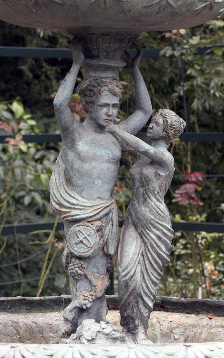 Fountain Figures, Sculpture, Art Nouveau, Manneken