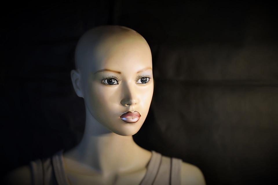 Portrait, Fashion, Darkness, Woman, Human, Mannequin