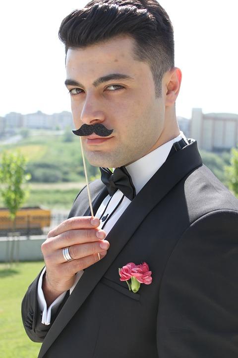 Son In Law, Male, Mustache, Wedding, Suit, Mannequin