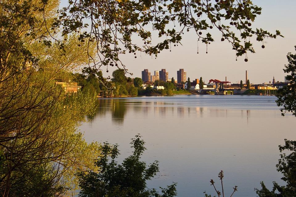 Mannheim, Rhine, Panorama