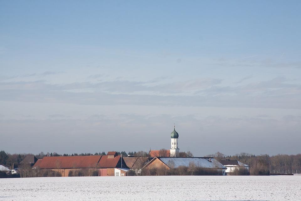Gut, Manor, St Bhanu In Möschenfeld, Winter, Snow