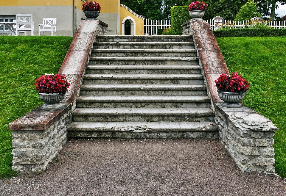 Stone Stairway, Stairs, Manor, Manor House, Palmse