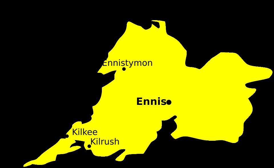 Clare, Ireland, Map