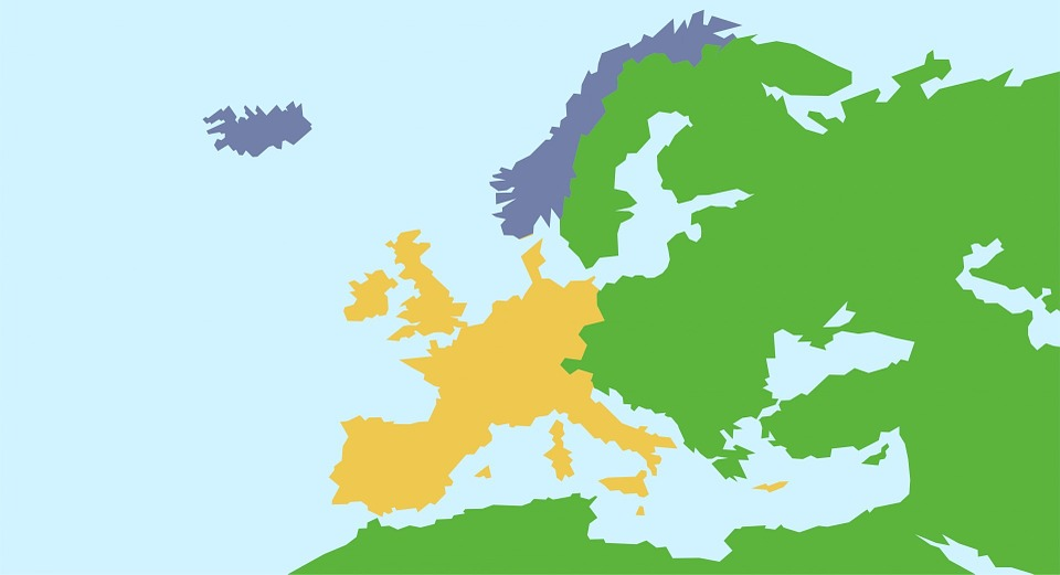 Map, Europe, European, Continents, Countries, Travel