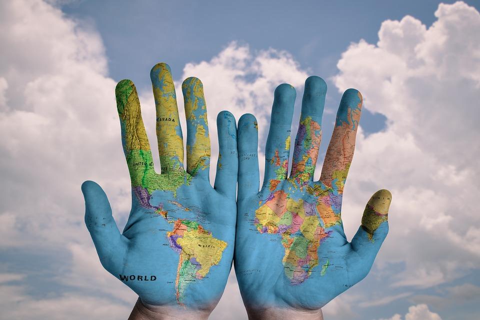 Free photo map global globe world earth hands creative blue max hands world map global earth globe blue creative sciox Choice Image