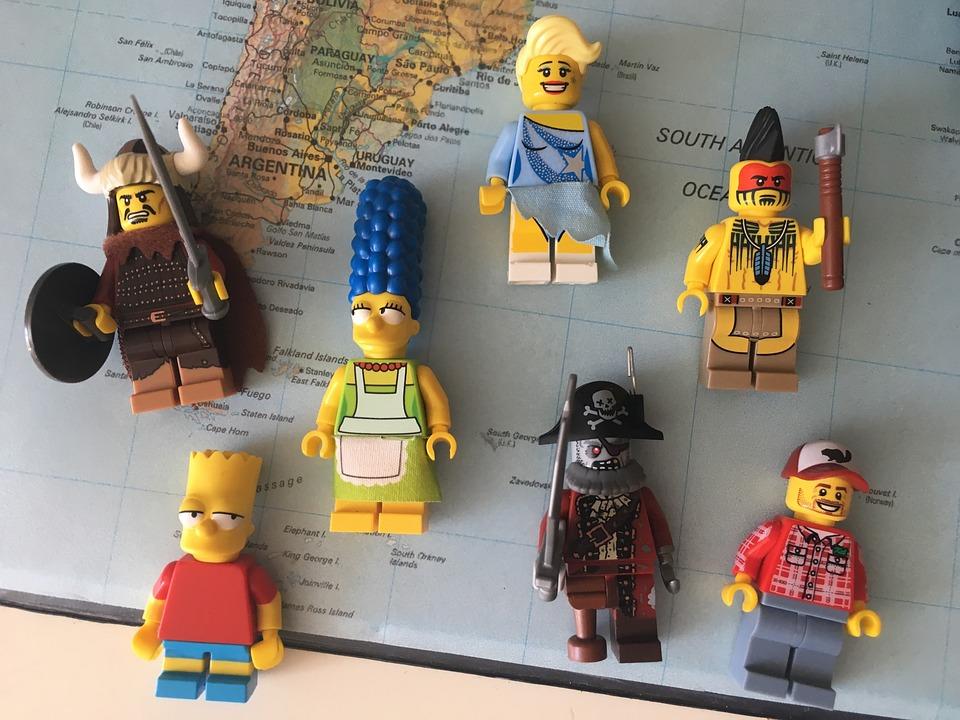 Legogubbar, Legogummor, Lego, Map Of The World, Map