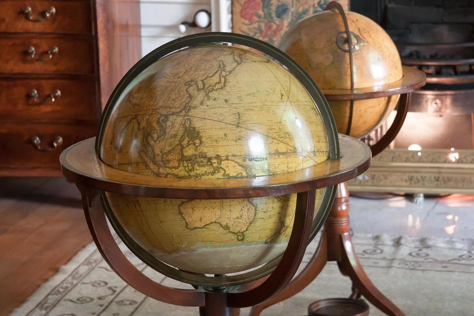 Globe, Antique, Map Of The World, Home, Navigation