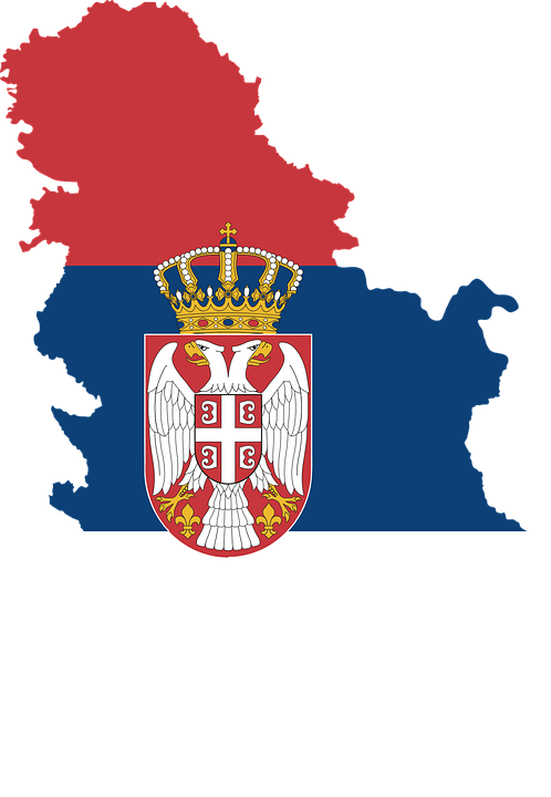 Serbia, Country, Europe, Flag, Borders, Map, Nation