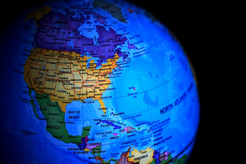 earth globe map maps north america world