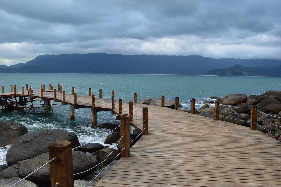 Bridge, Pier, Ilhabela, Mar, Nature