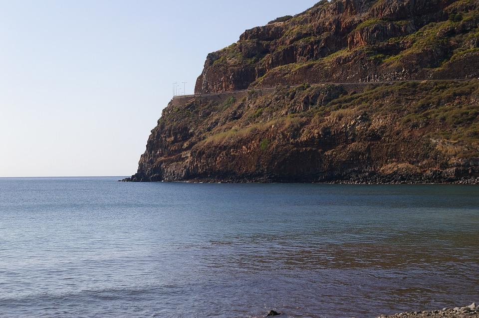 Wood, Mar, Cliff, Stones, Island