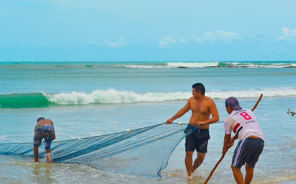 Fisherman, Nature, Mar, Fishing Boat, Blue Sky, Beach