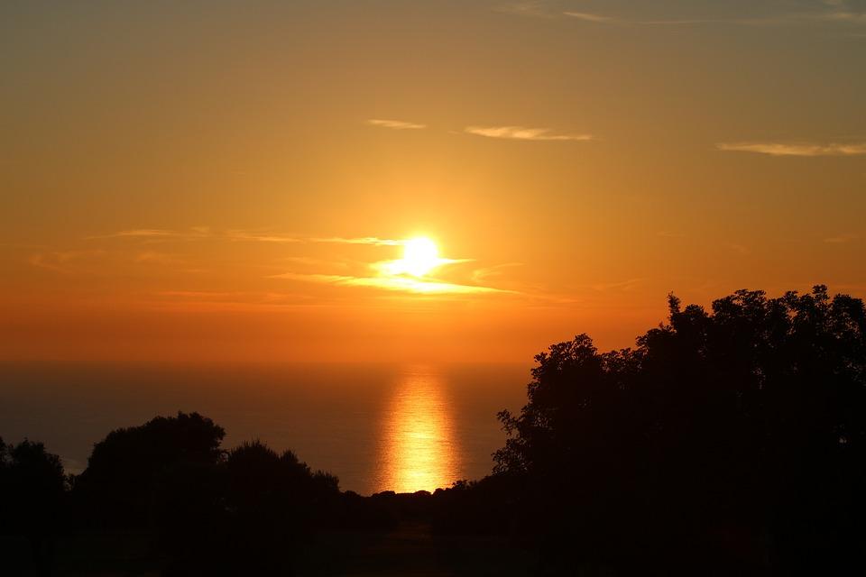 Sol, Sunset, Eventide, Nature, Beach, Mar, Landscape
