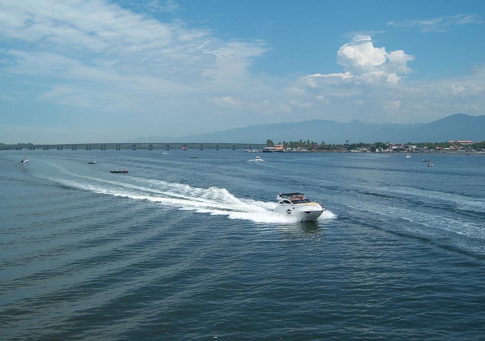 Speedboat, Mar, Speed, Sky, São Vicente, Litoral