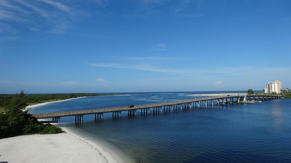 Bridge, Mar, Water, Ocean, Landscape, Nature, Sky