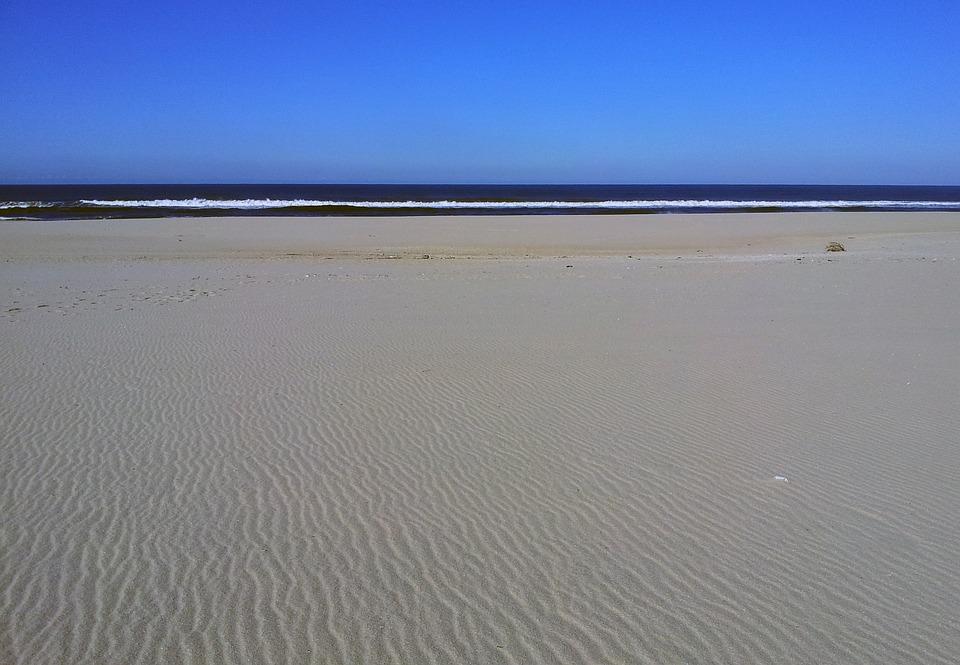Sand, Mar, Horizon, Ocean