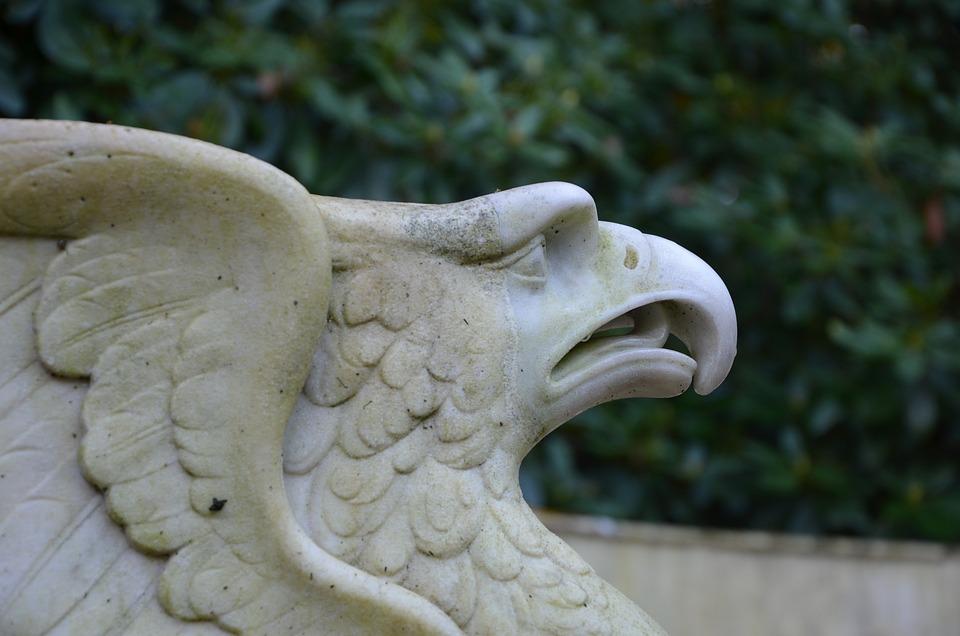 Statue, Adler, Bird, Griffin, Marble, Sculpture, Raptor