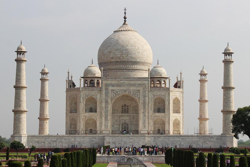 Taj Mahal, India, Taj, Mahal, Agra, Asia, Marble