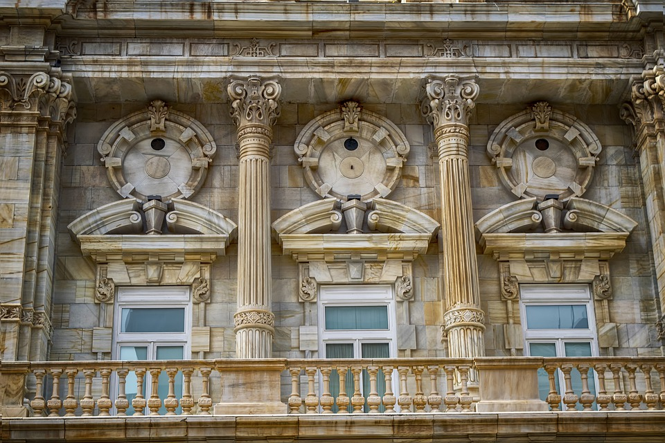 Facade, Architecture, Marble, City Hall, Cartagena