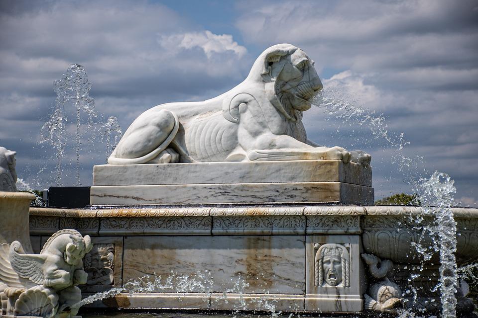 Belle Isle, Fountain, Detroit, Marble, Moody, Lion