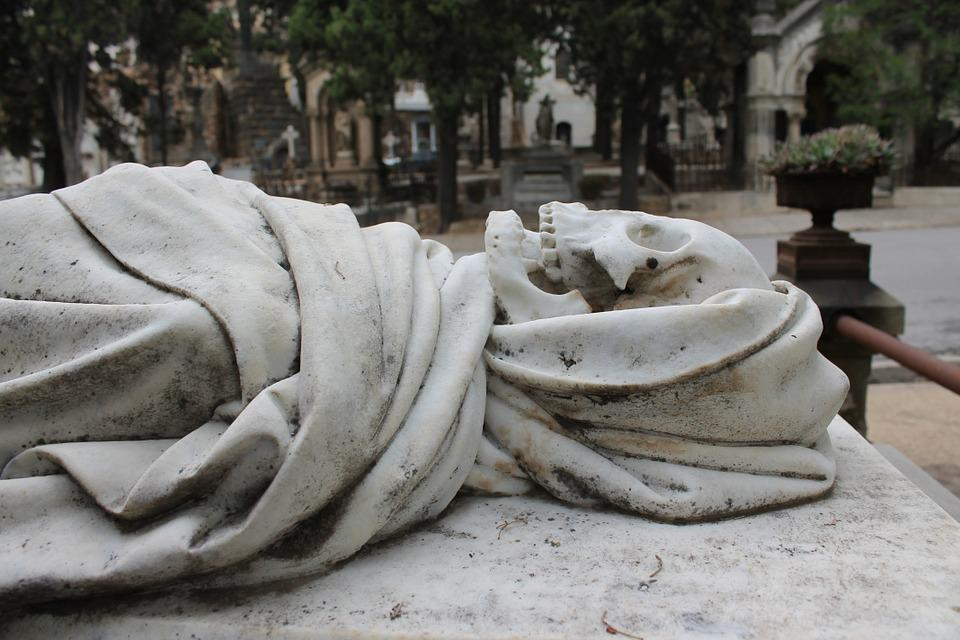 Death, Statue, Stone, Sculpture, Cemetery, Marble