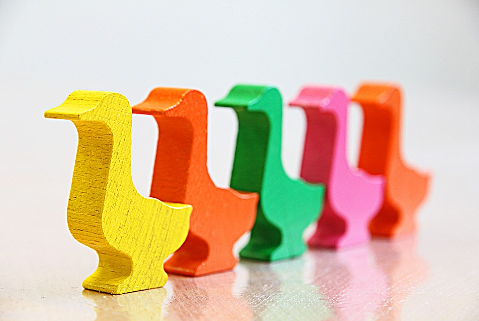 Duck, Goose, March, Series, Queue, Colors, Order