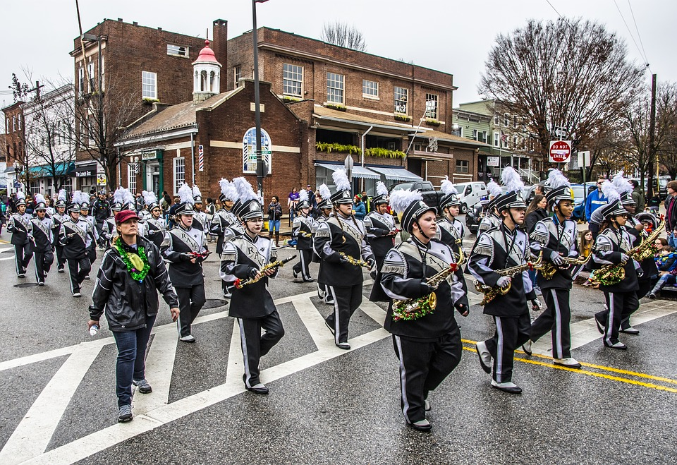 Parade, Mayor, Baltimore, Marching, Band, City, Urban