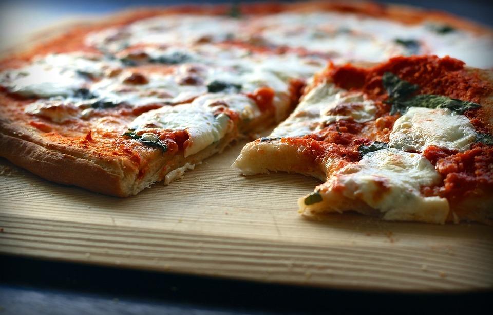 Pizza Cheese Margarita Homemade Tomato Sauce Slice