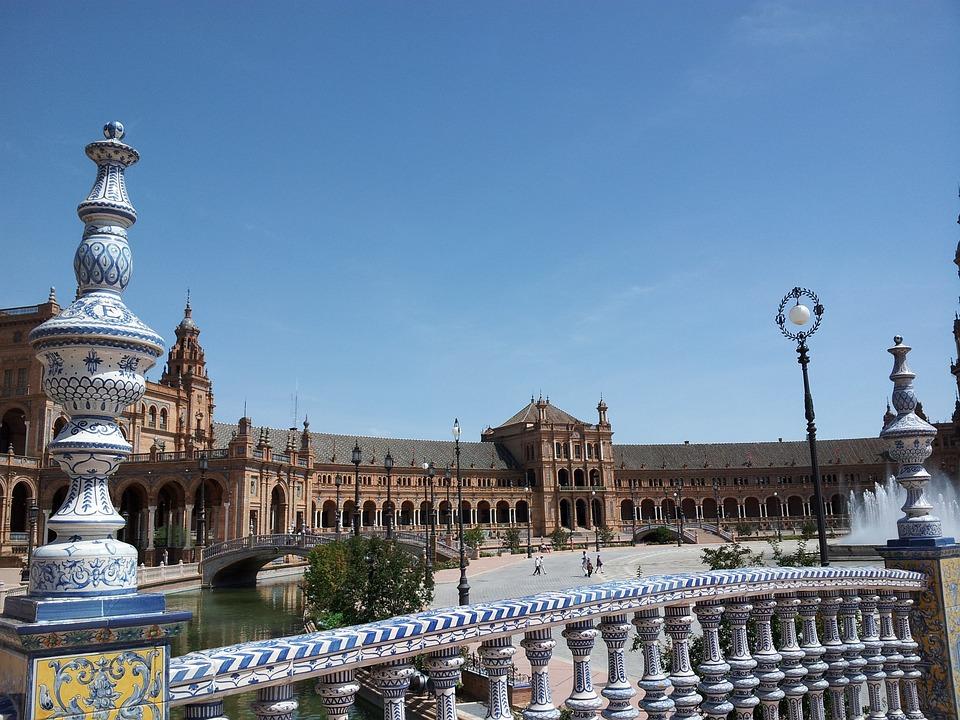 Spain, Square, Maria Luisa Park