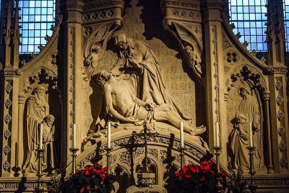 Pieta, Jesus, Mary, Sculpture, Religious, Maria, Faith