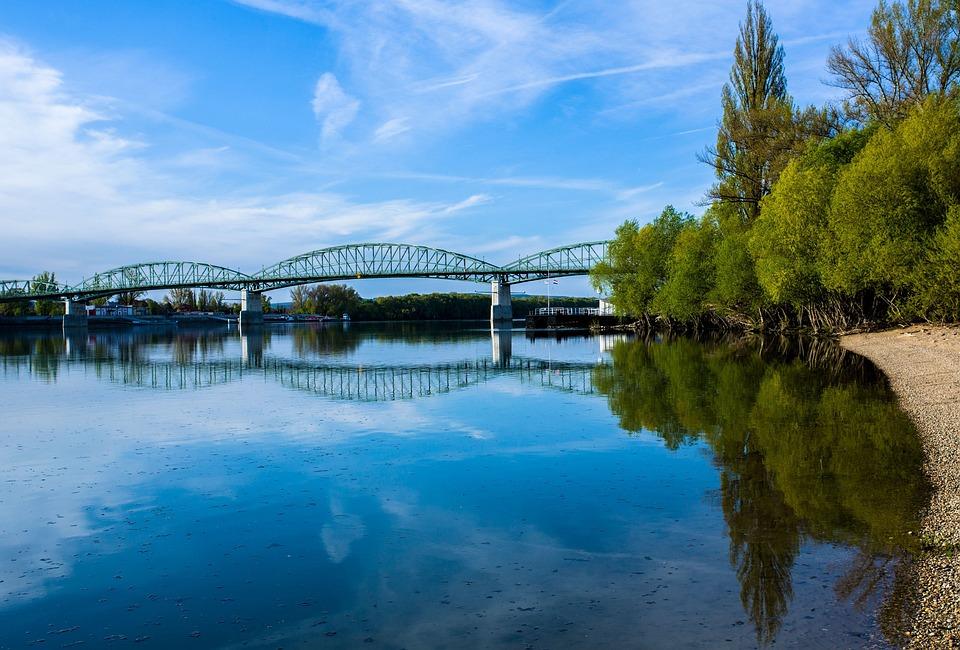 Danube, River, Maria Valeria Bridge, Esztergom