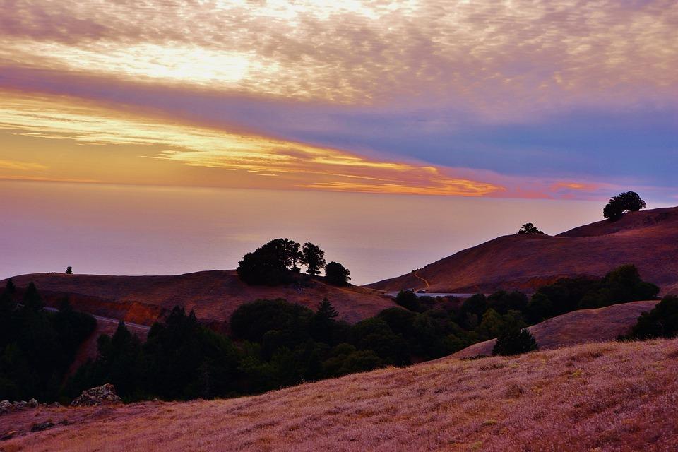Muir Beach, California, Marin County, Sunset, Landscape