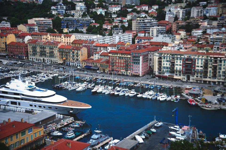 Nice, Aerial View, City, Croisette, Port, Marina, Boat