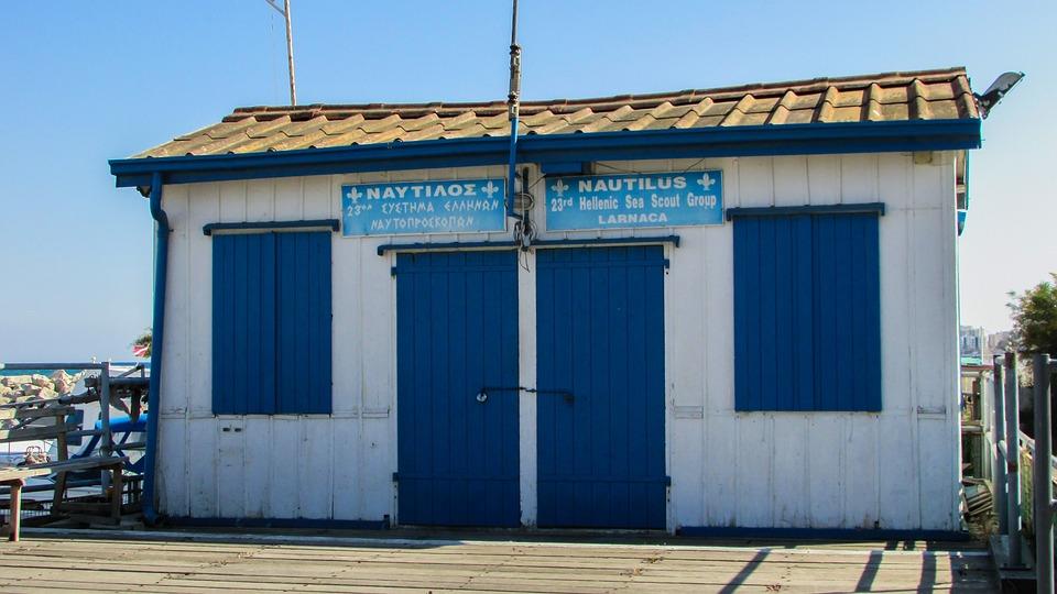 Cyprus, Larnaca, Marina, Sea Scout Building